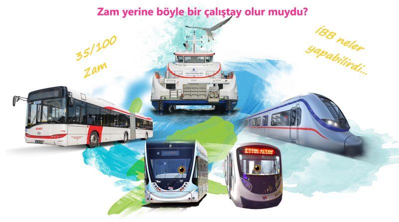 İstanbul'da ulaşıma zam yapmayı engelleyecek öneriler